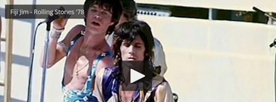 In this 1978 video, Mick Jagger and Keith Richards belt out their unreleased tune, Fiji 							Jim